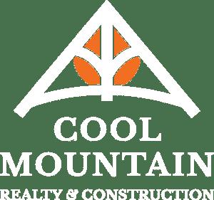 Cool Mountain White Logo stacked