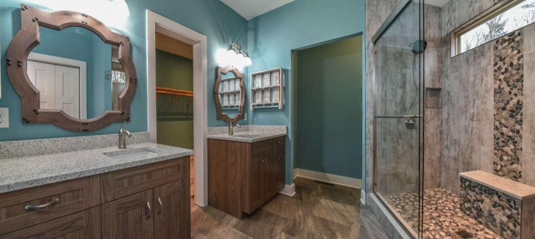 Cool Mountain Construction Master Bathroom