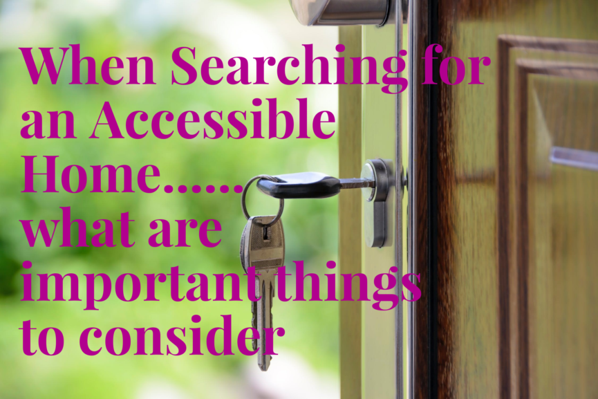 When Searching for an Accessible Home